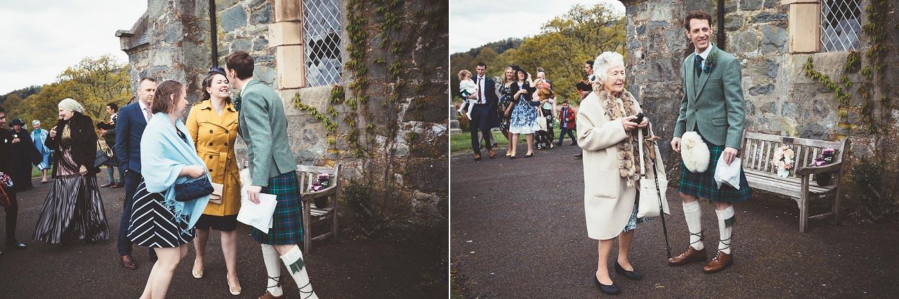 wedding photographer trossach kirk church roman camp hotel callander scotland 0034