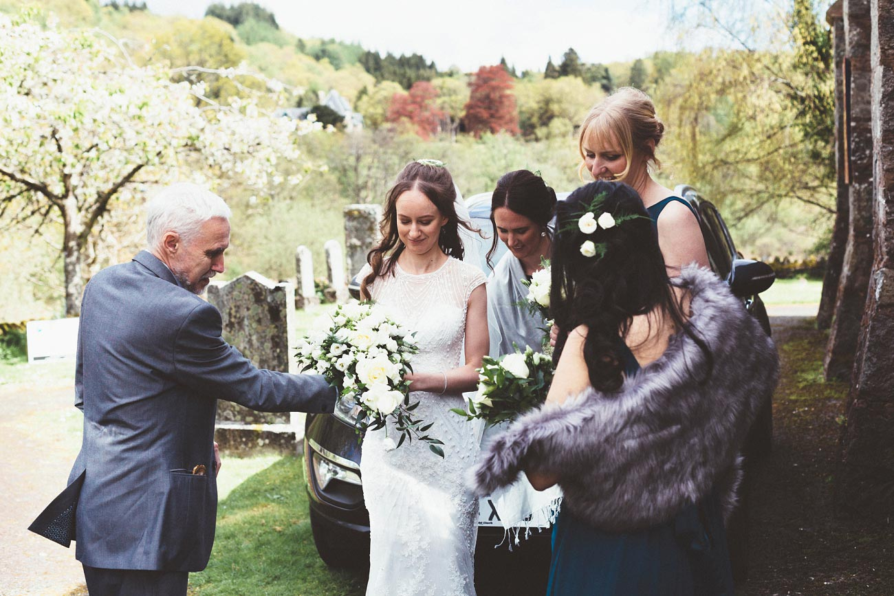 wedding photographer trossach kirk church roman camp hotel callander scotland 0040