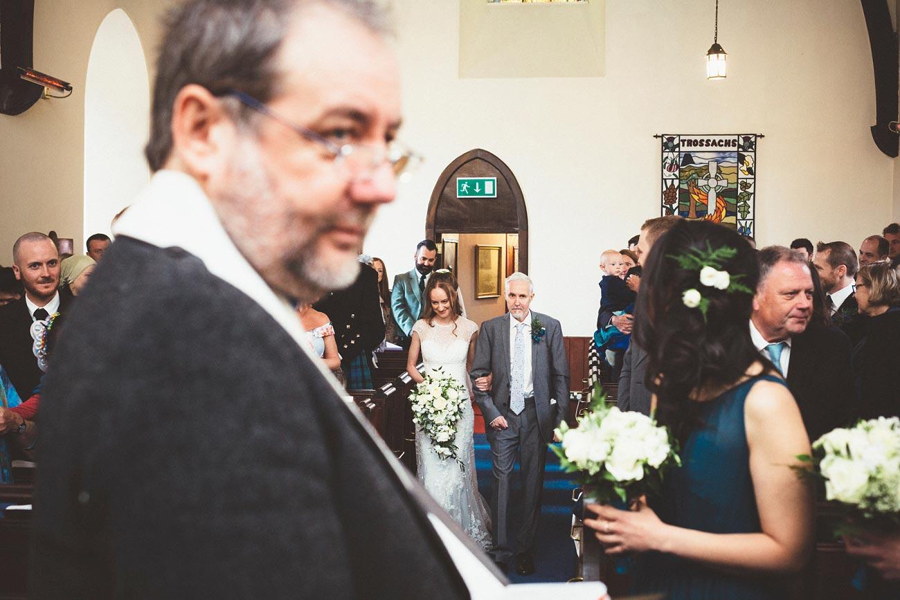 wedding photographer trossach kirk church roman camp hotel callander scotland 0046