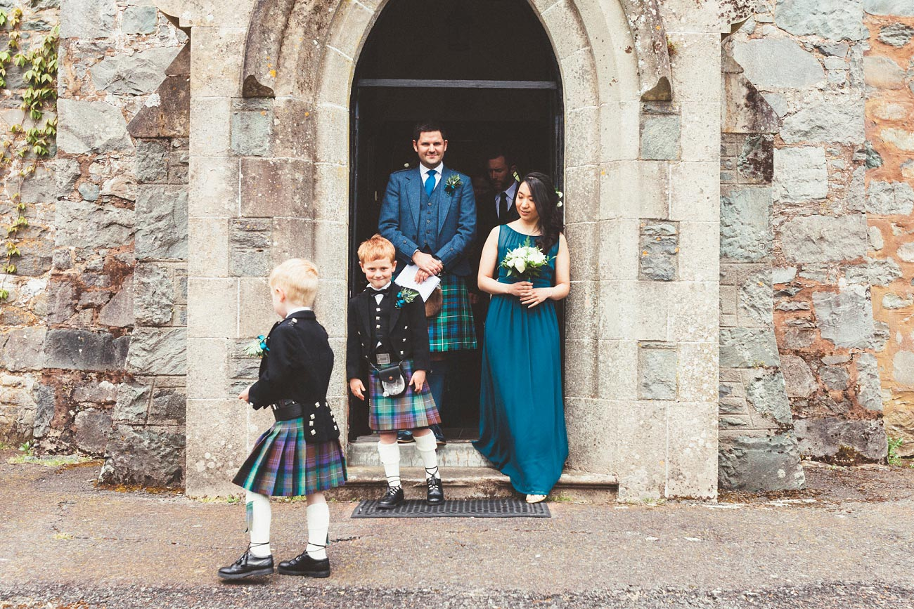 wedding photographer trossach kirk church roman camp hotel callander scotland 0061