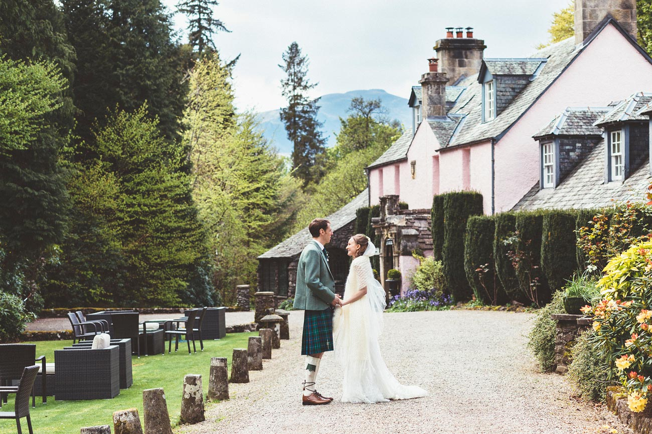 wedding photographer trossach kirk church roman camp hotel callander scotland 0080