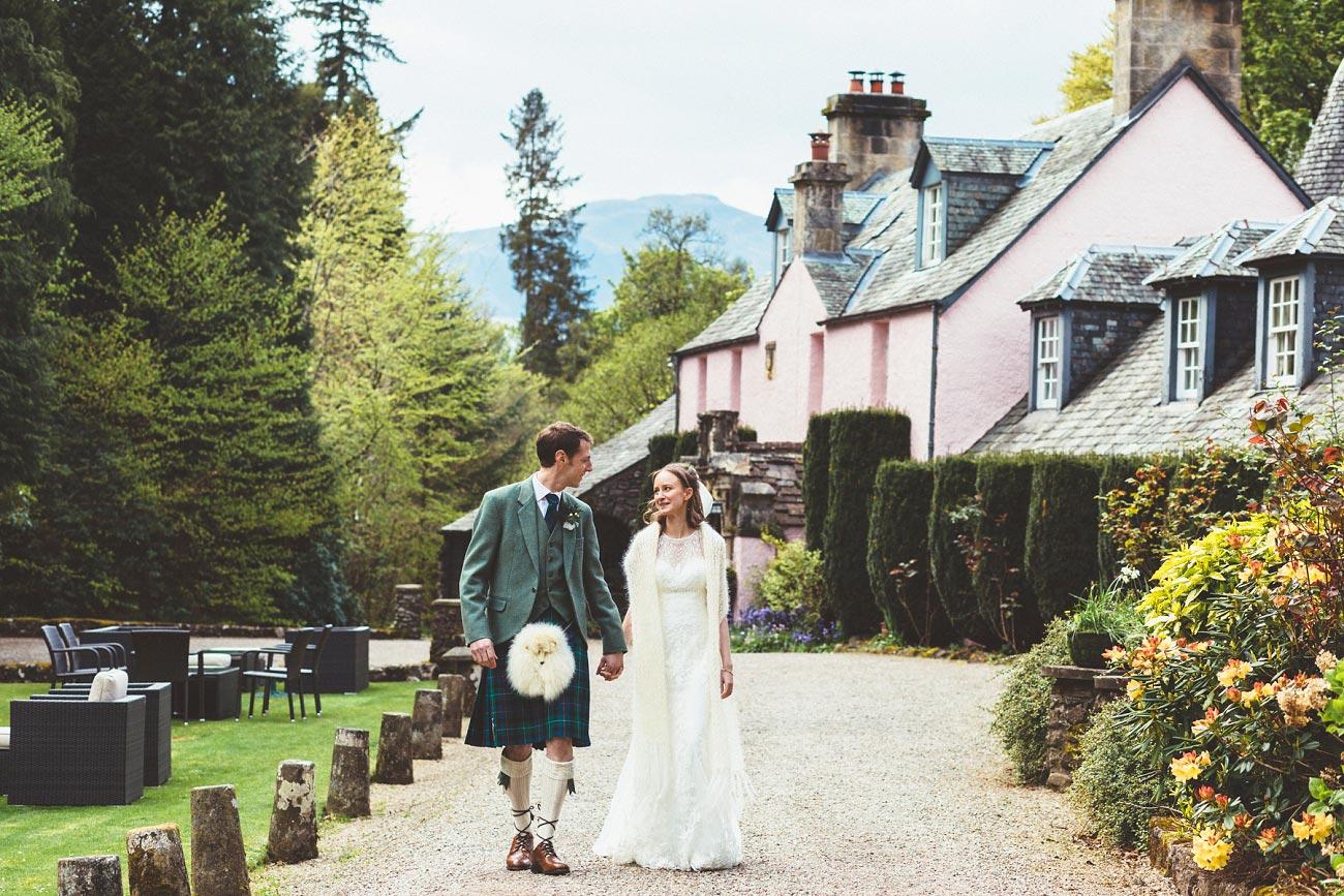 wedding photographer trossach kirk church roman camp hotel callander scotland 0082