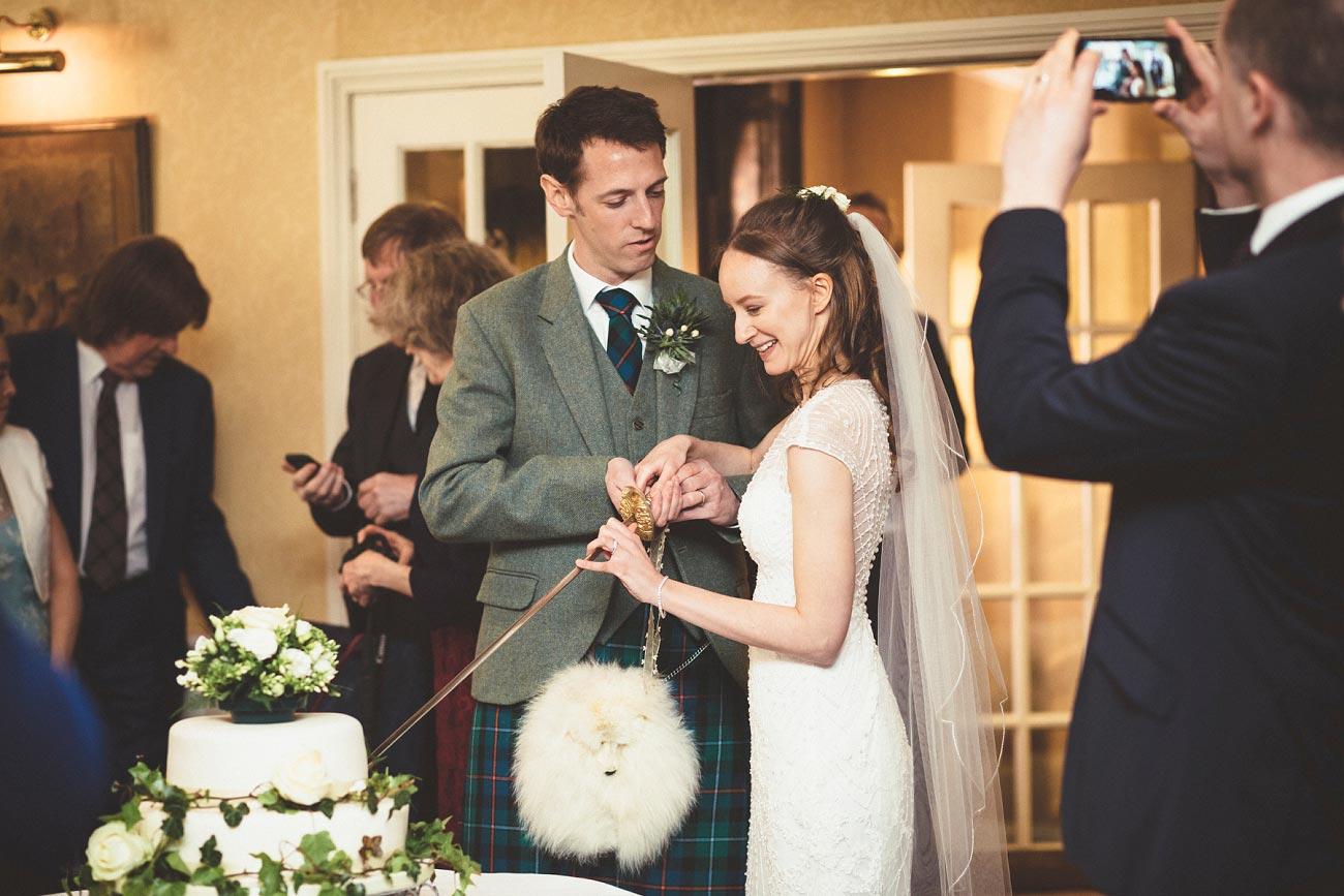 wedding photographer trossach kirk church roman camp hotel callander scotland 0084