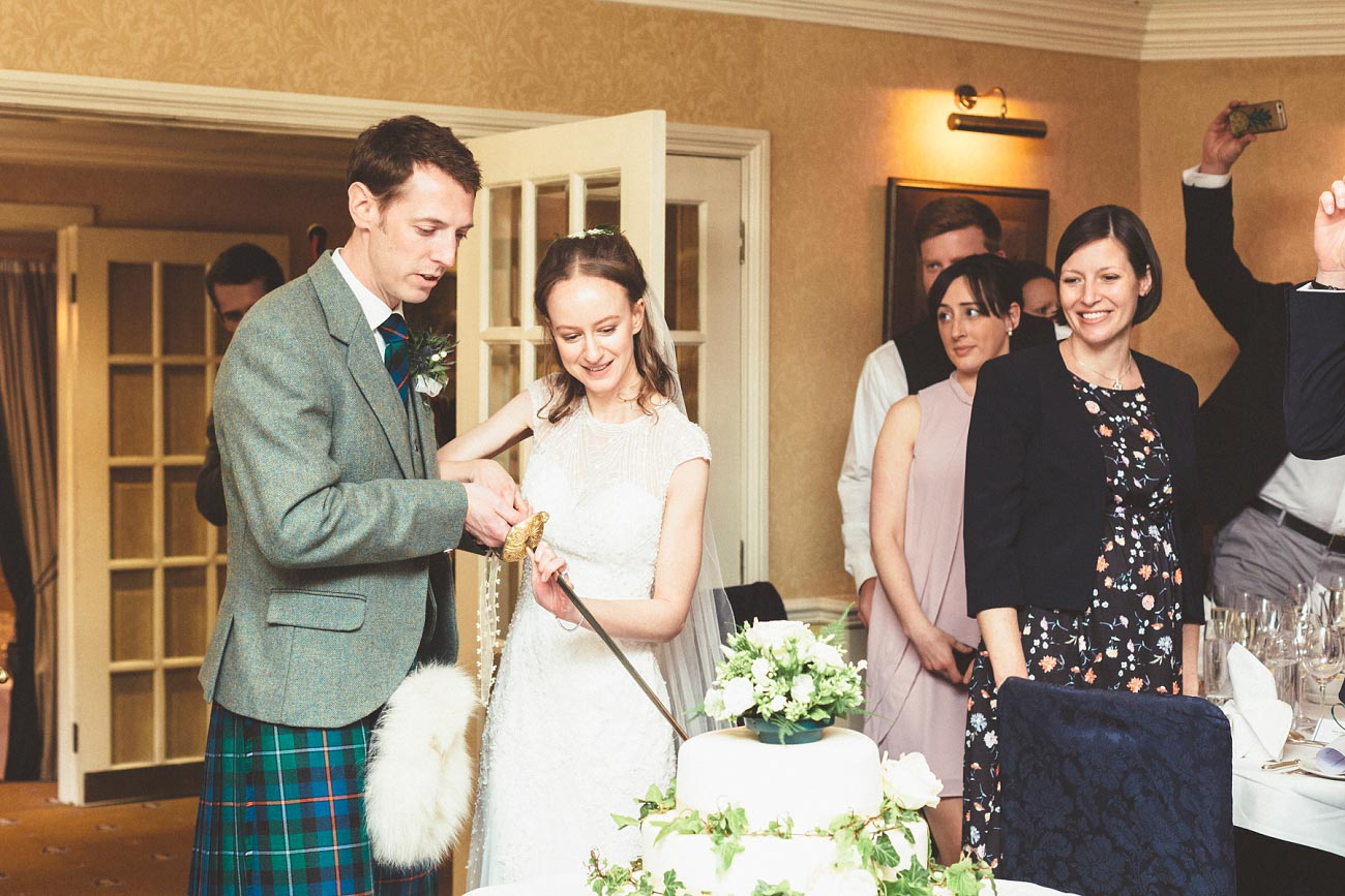 wedding photographer trossach kirk church roman camp hotel callander scotland 0086