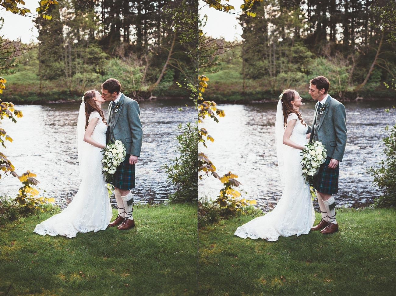 wedding photographer trossach kirk church roman camp hotel callander scotland 0104