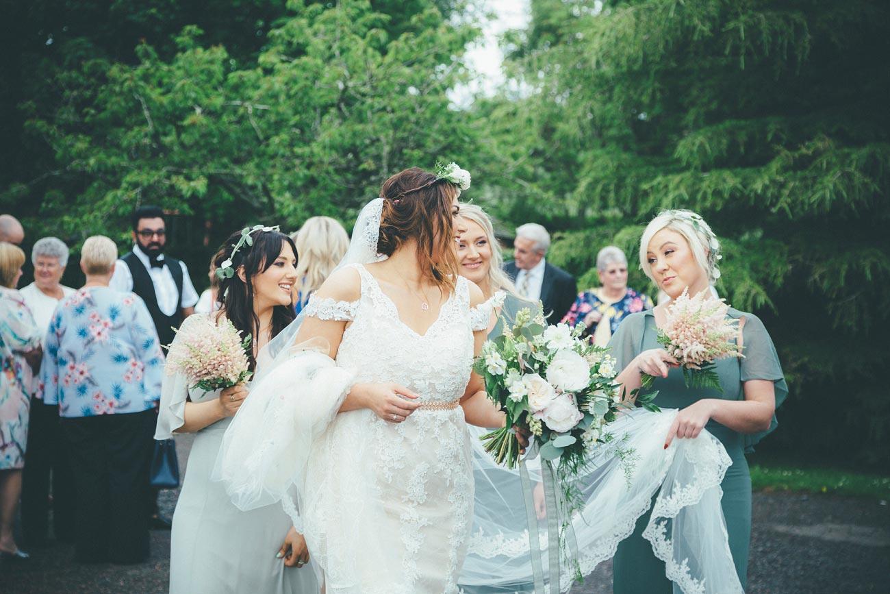 wedding photography fife letham village Hall scotland woodland vintage 0068