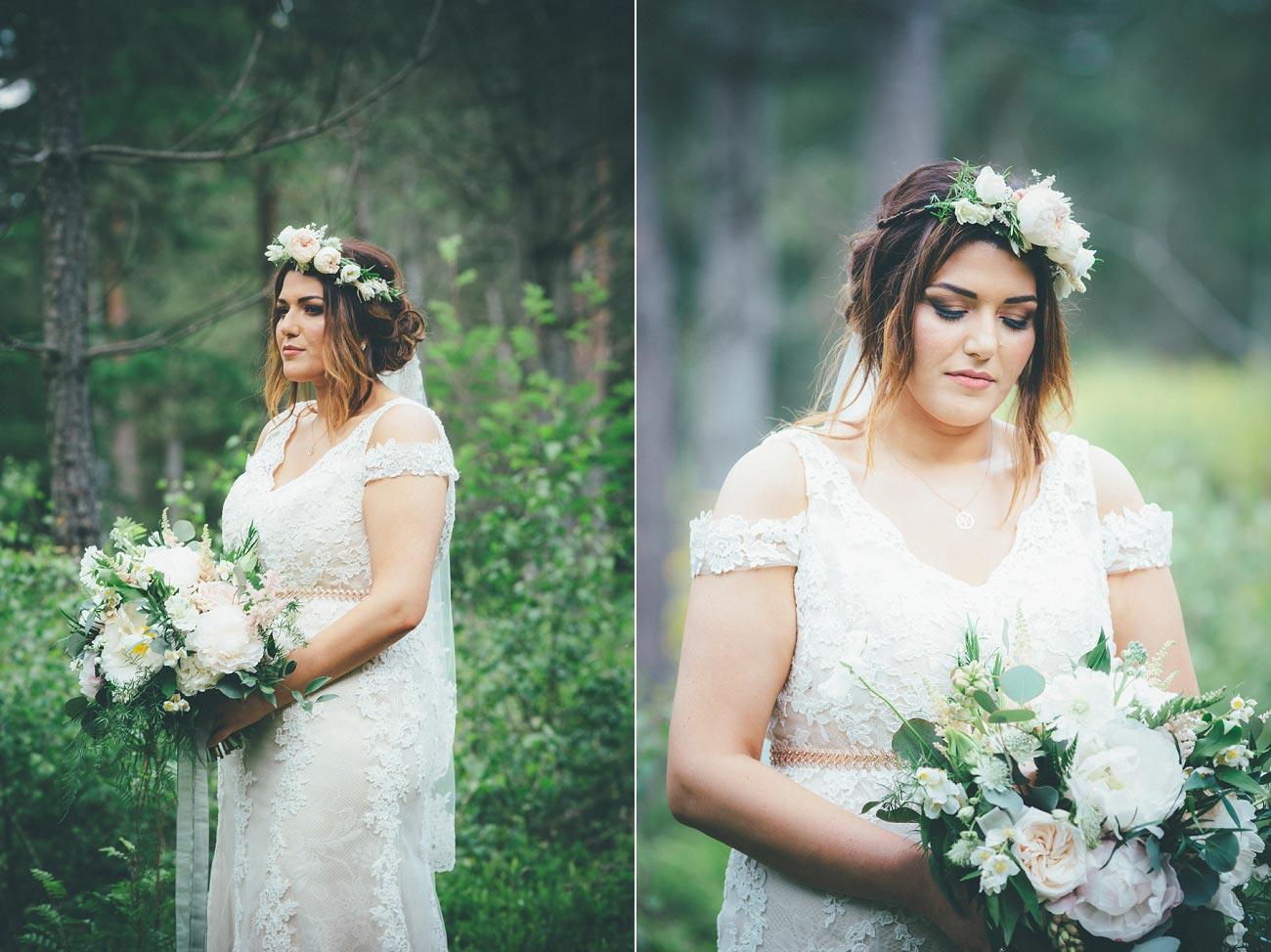 wedding photography fife letham village Hall scotland woodland vintage 0081