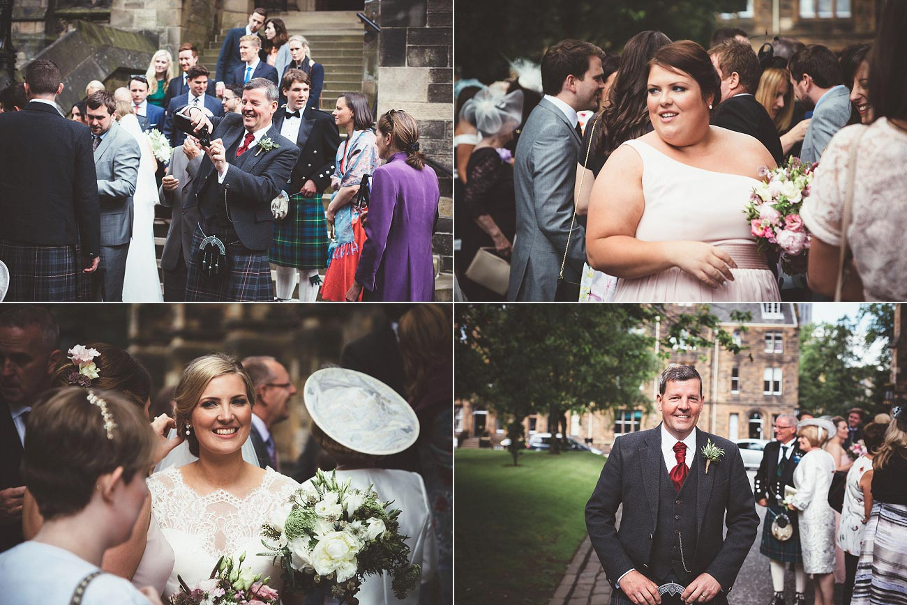 wedding photography glasgow university chapel oran mor reportage 27
