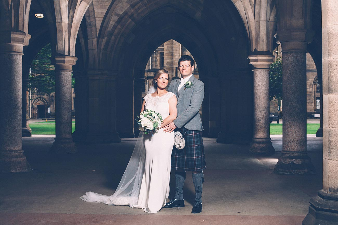 wedding photography glasgow university chapel oran mor reportage 34