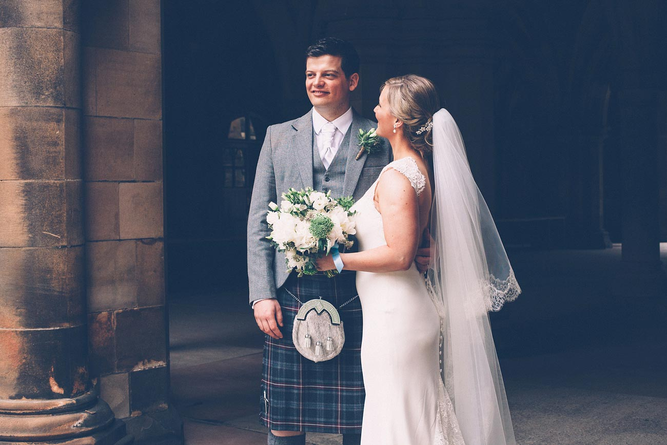 wedding photography glasgow university chapel oran mor reportage 35