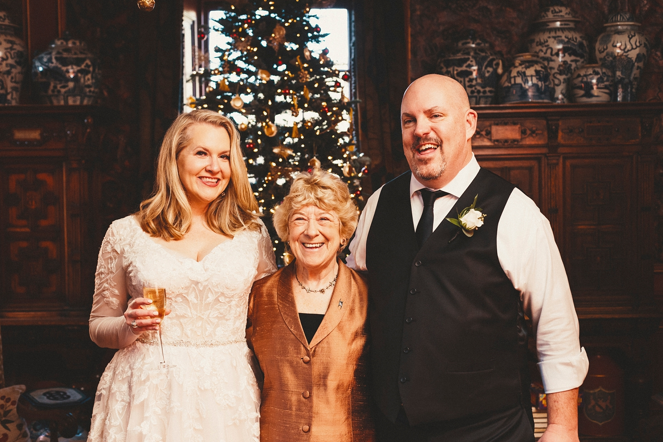 Prestonfield House Elopement Christmas Wedding Ceremony