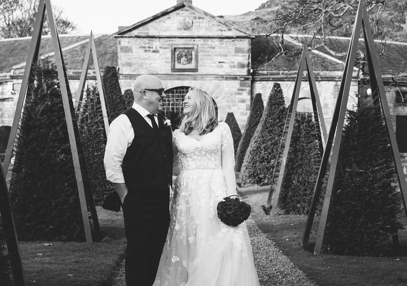 black and white wedding scotland prestonfield house hotel photography 0020