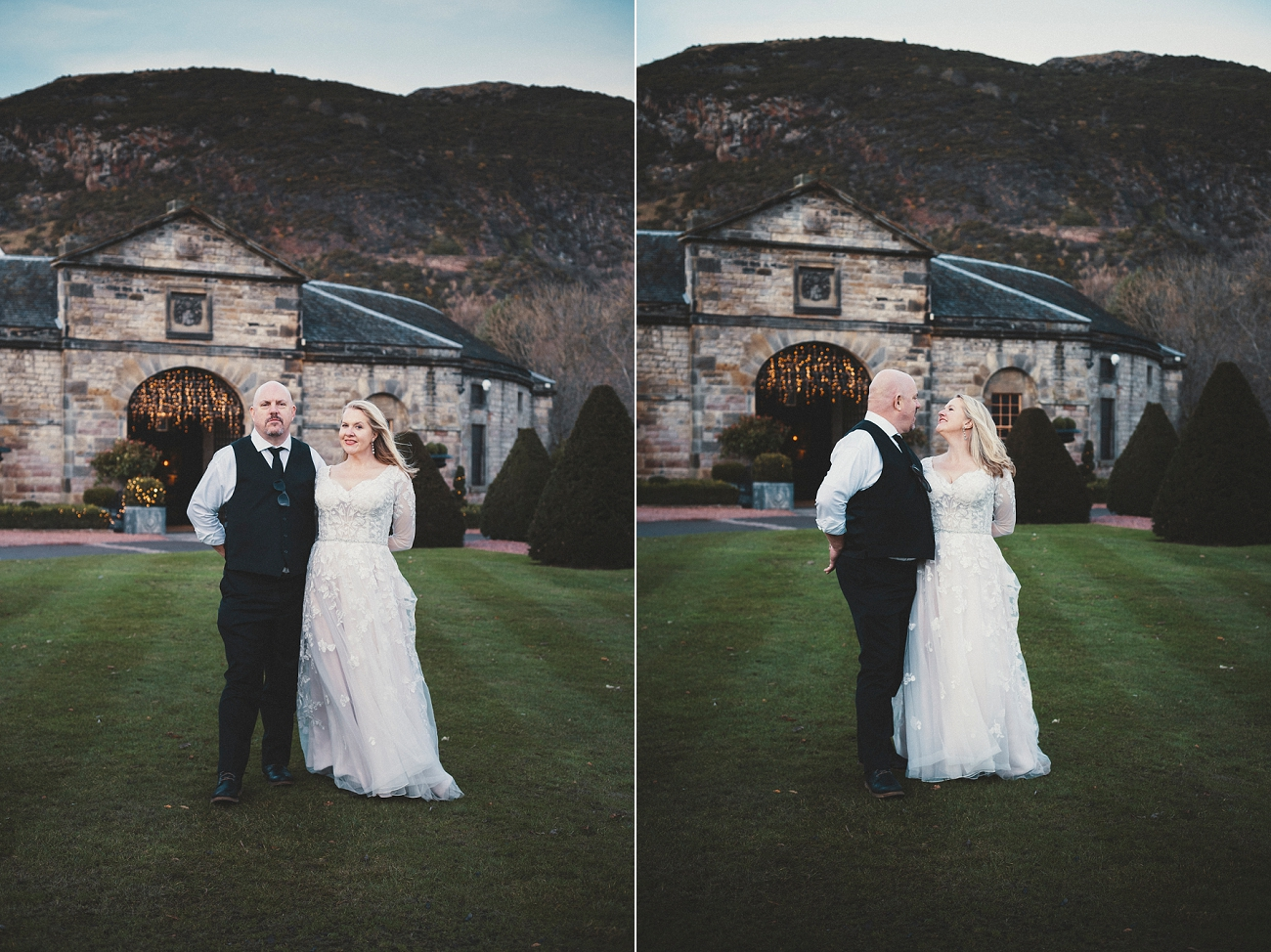 Prestonfield House christmas wedding photography
