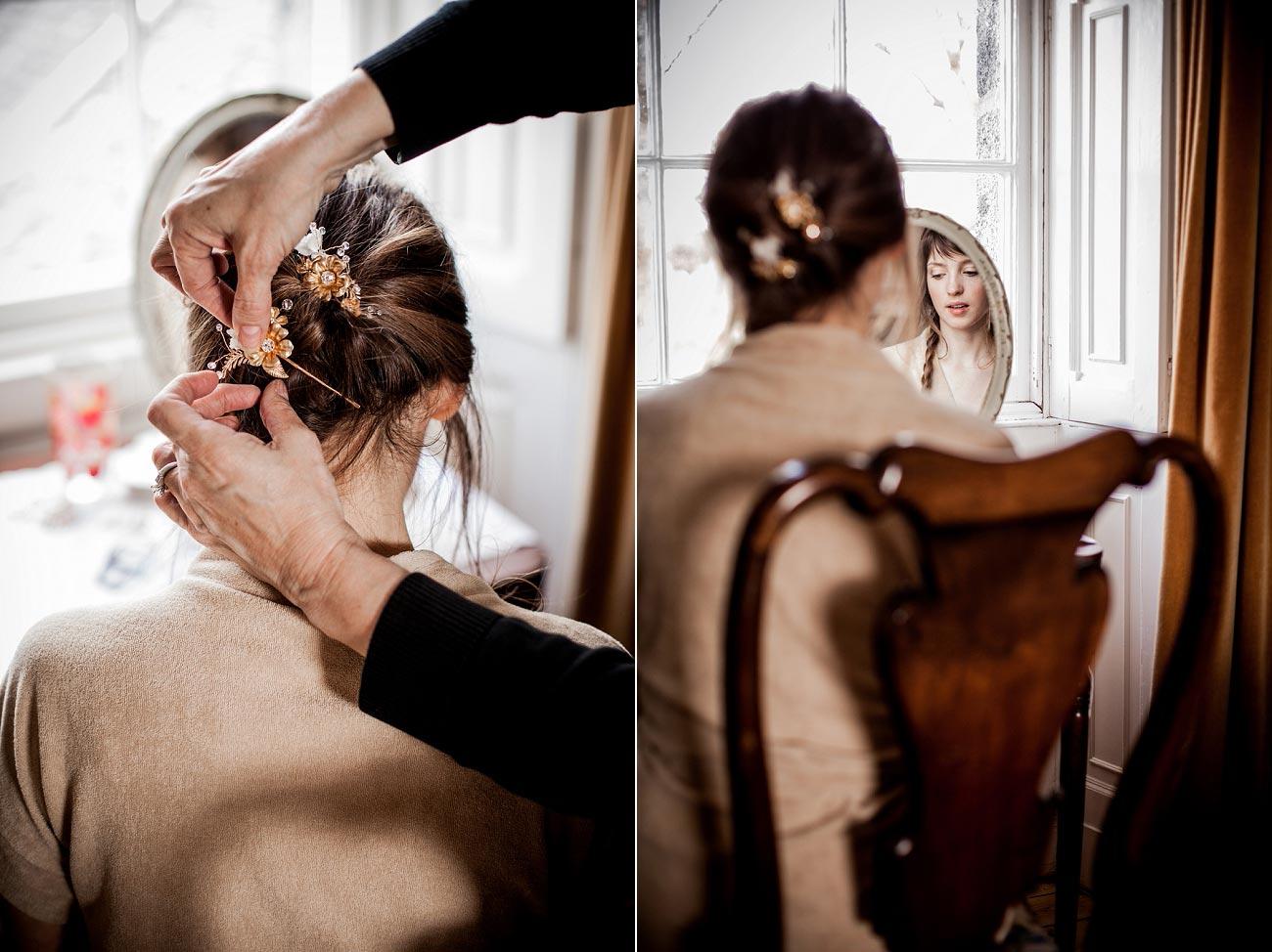 Bridal wedding photography Dell of Abernethy