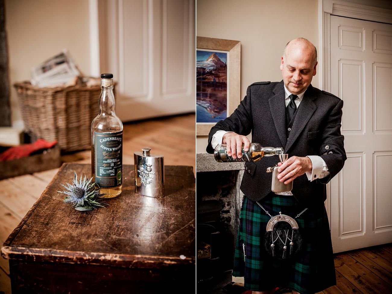 Wedding drinks, Dell of Abernethy, Cairngorms, Scottish Highlands