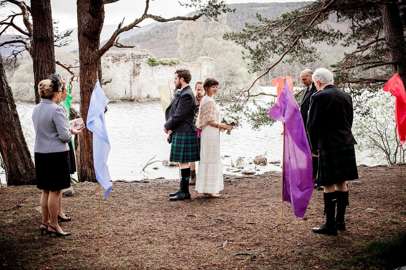 woodland wedding photography, woodland handfast ceremony, Cairngorms, Scottish Highlands