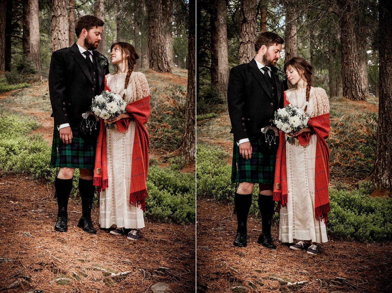 forest wedding photography scotland rothiemurchurs cairngorms