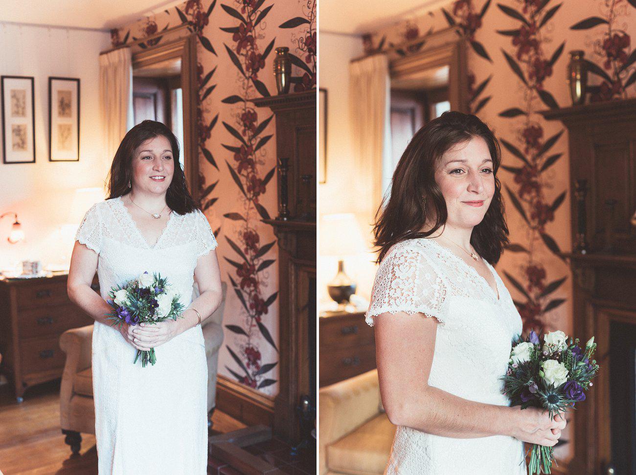 relaxed lodge on loch goil elopement wedding winter scottish highlands 0012
