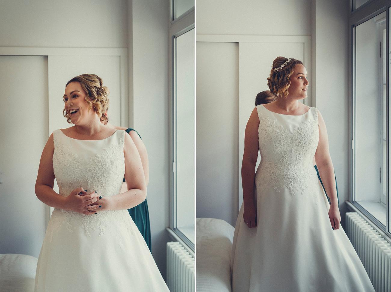 relaxed bridal wedding preparations natural wedding photographer glasgow scotland