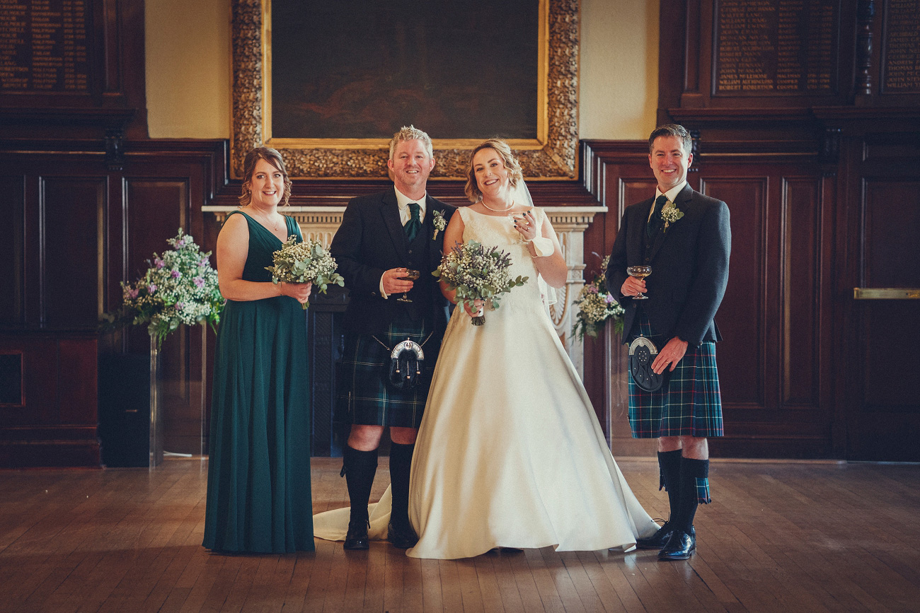 relaxed and natural glasgow elopement wedding trades hall merchant city photographer 0012